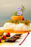 Fennel Pollen Pistachio Crusted Alaskan Halibut