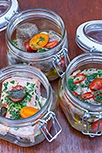 Beef in a jar, sausage in a jar, fish in a jar